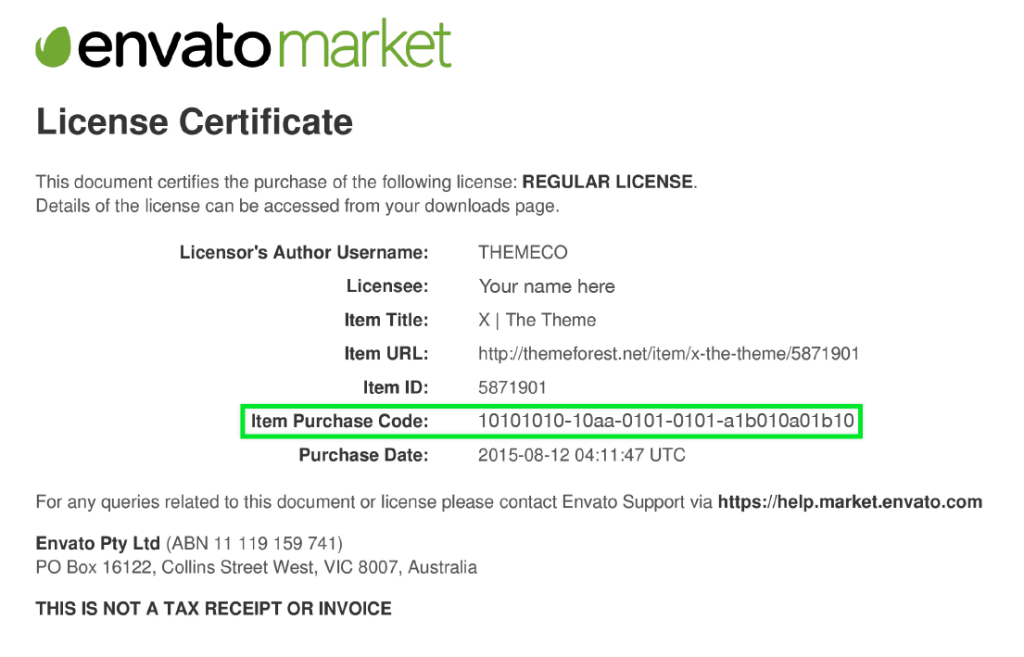 License_Purchase_Code_Example